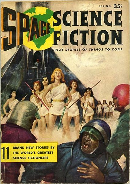 Cover image of old science fiction magazine