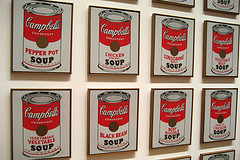 Andy Warhol's 1962 Campbell's Soup Cans/Flickr photo by Wally Gobetz