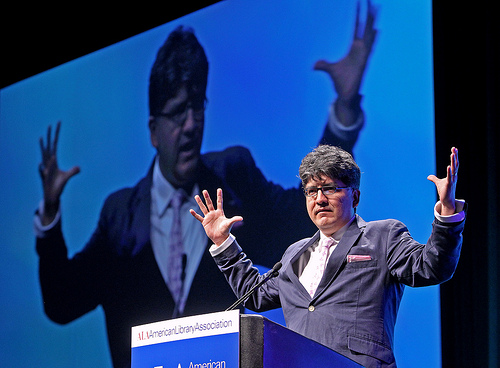 Sherman Alexie, keynoting at the American Library Association