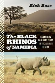 The Black Rhinos of Namibia - book cover