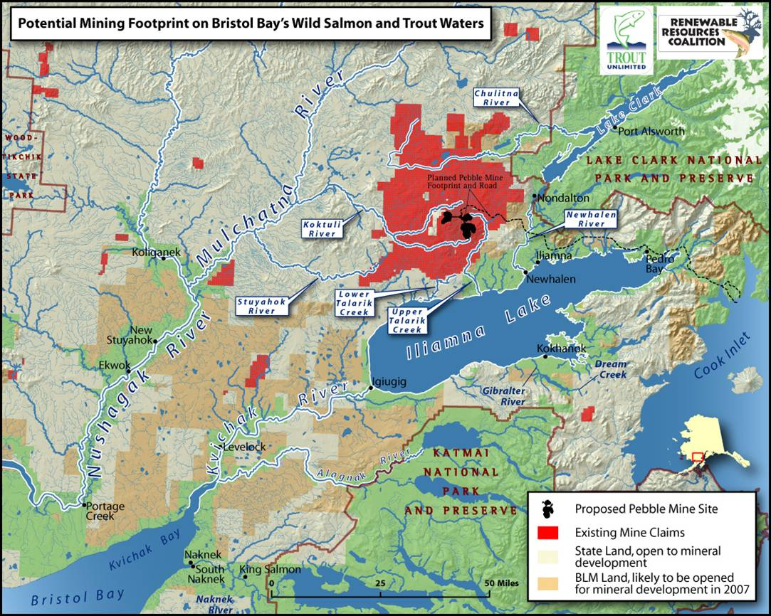 Bristol Bay, AK mining sites