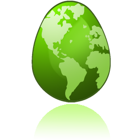 Image of a Green Earth Egg