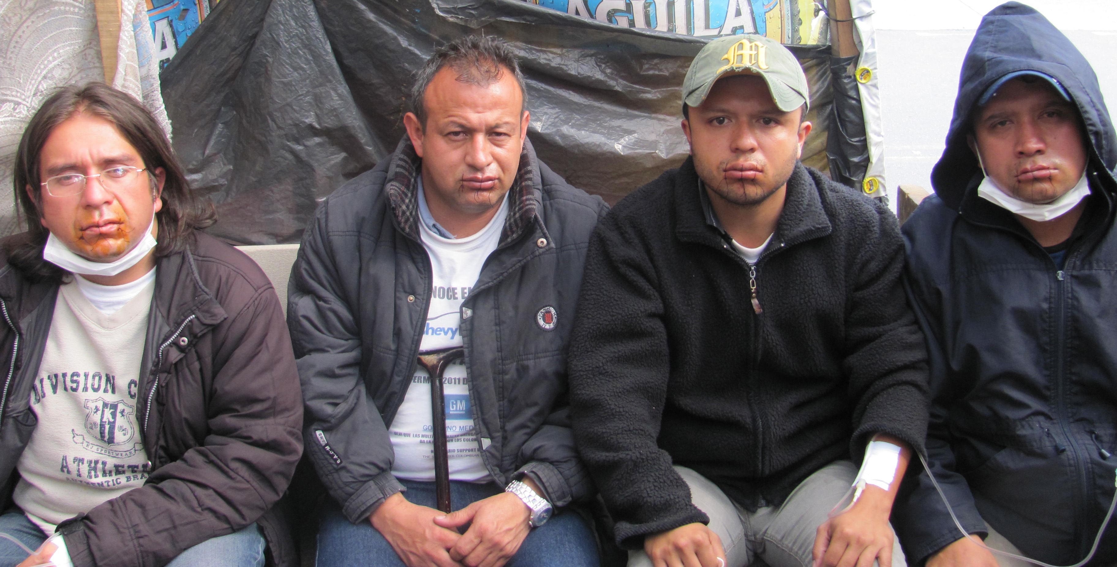 COLOMBIAN GM WORKERS ON HUNGER STRIKE