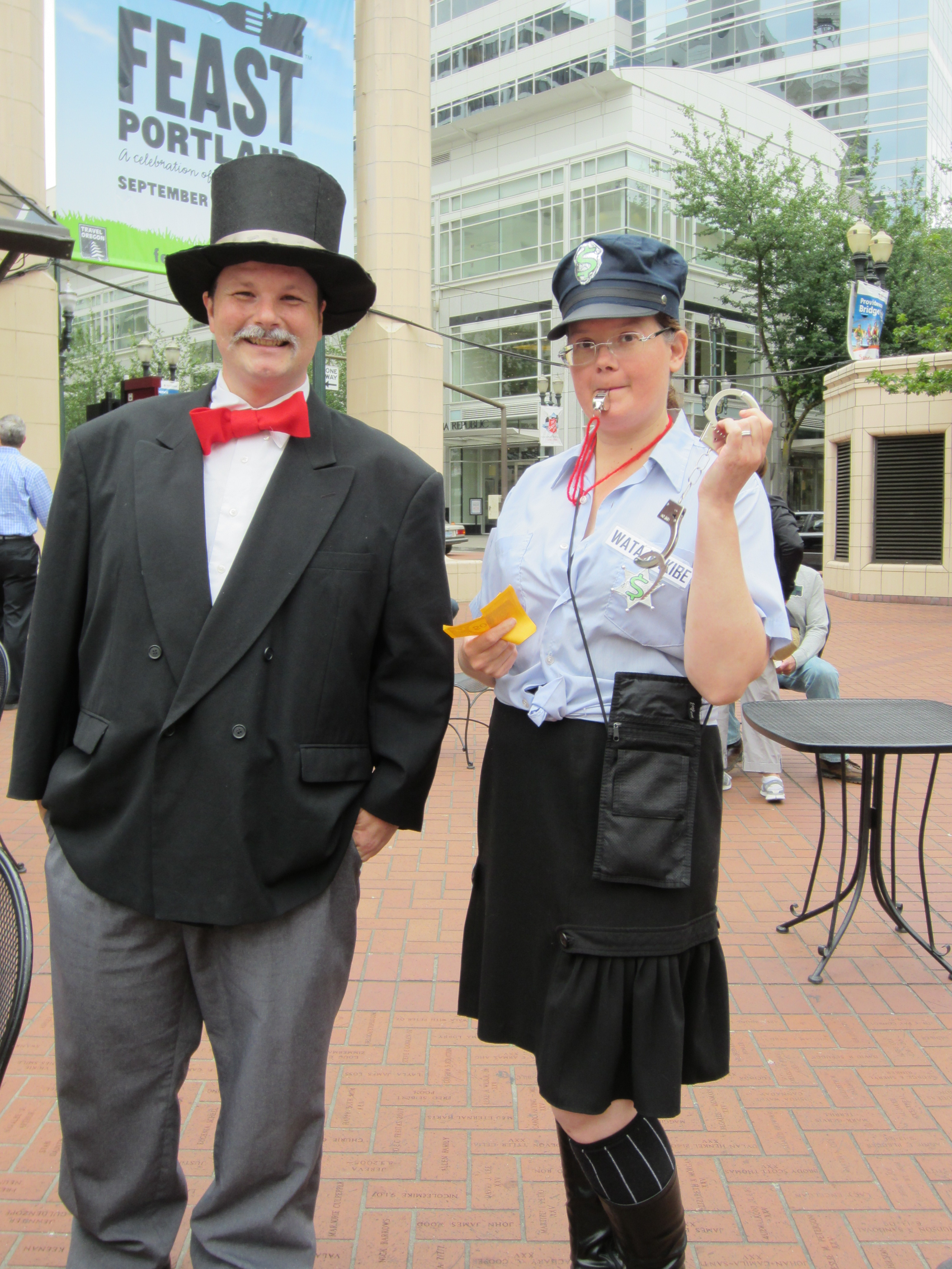 The Cop and The Banker from the Monopoly Game