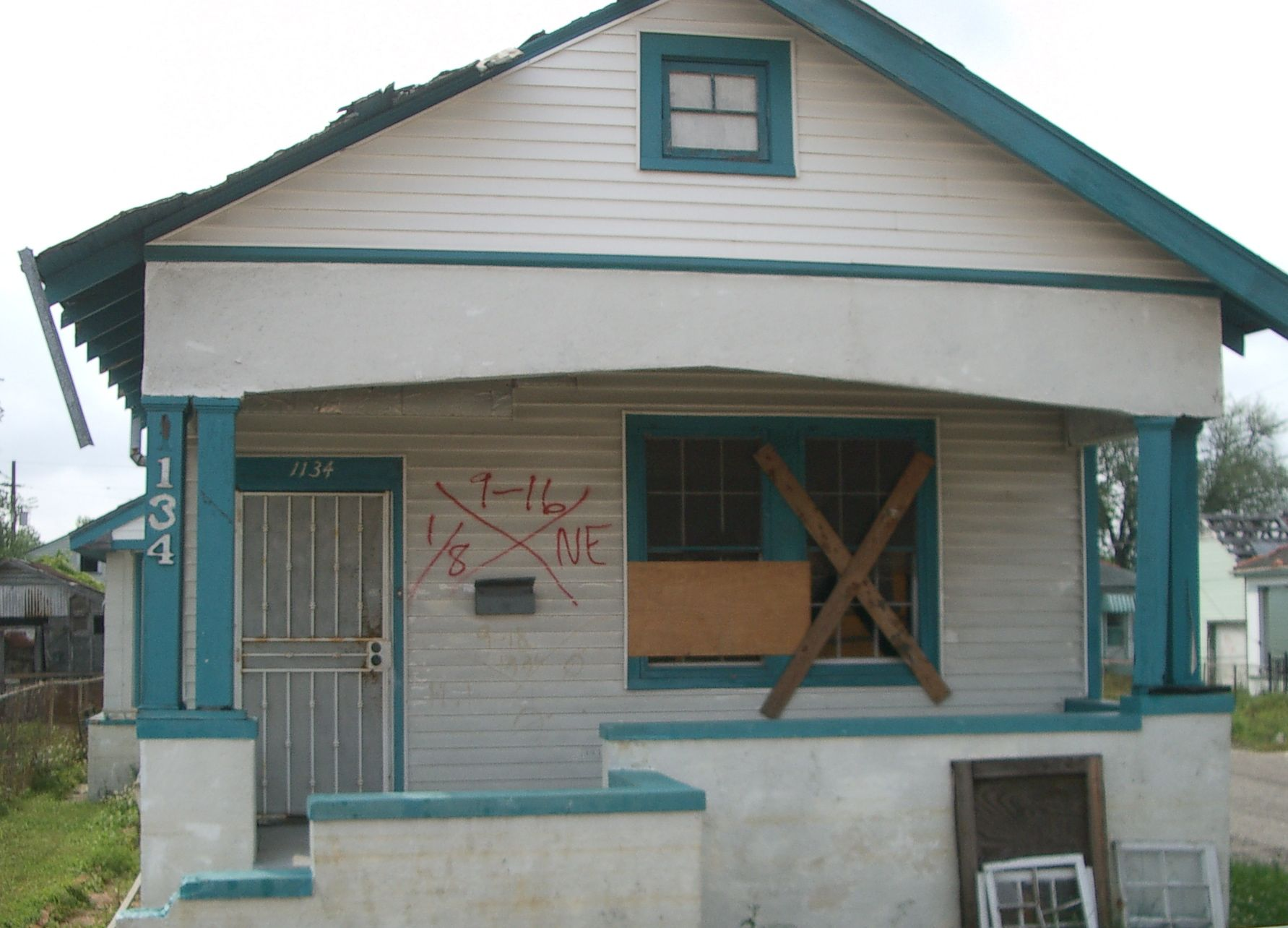 NOLA house with X-coded marking--circa 2007