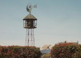 Wind-powered water pump, Stalford Seed Farms