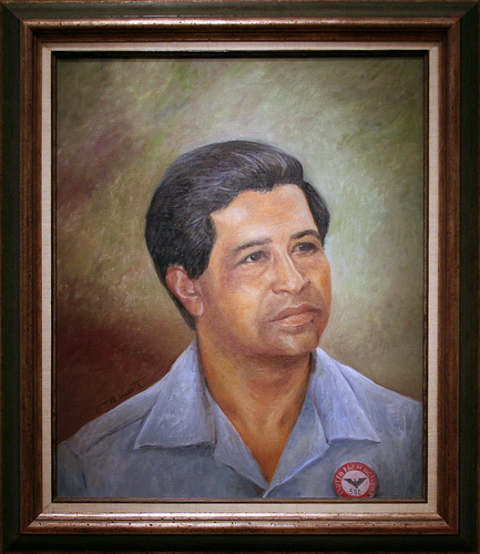 César Chávez, 1969 by Manuel Acosta, Oil on canvas