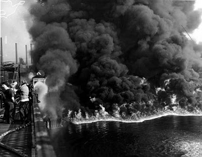 The Cuyahoga River On fire 1952