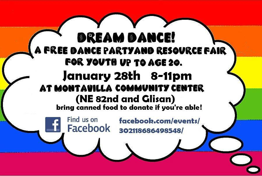 Dream Dance Jan 28 Montavilla Community Center