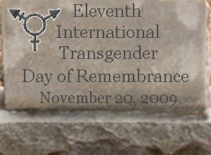 Transgender Day of Remembrance on Nov 20