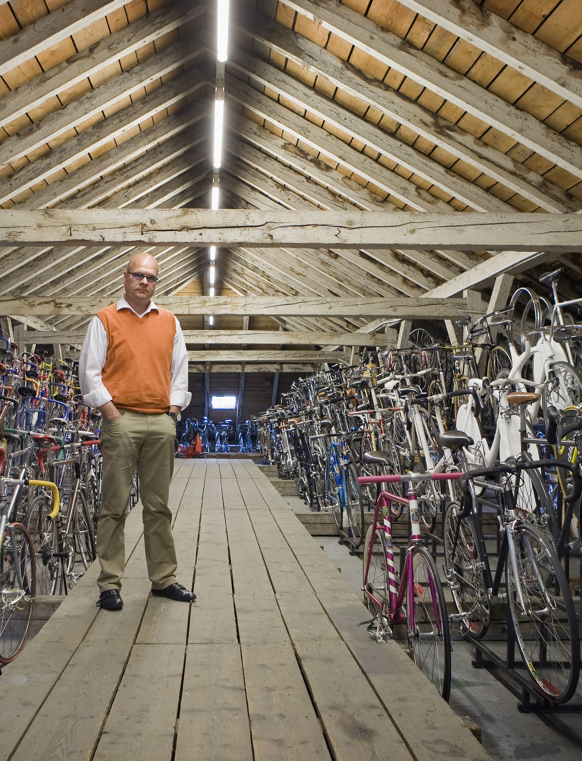 Cyclepedia's bike collector and architecht Michael Embach