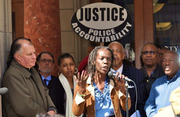 Jo Ann Hardesty and AMA Coalition members speak out about Frashour Reinstatement