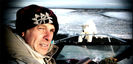 Greg Palast and polar bear