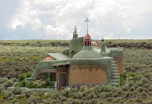 Earthship hand-made house