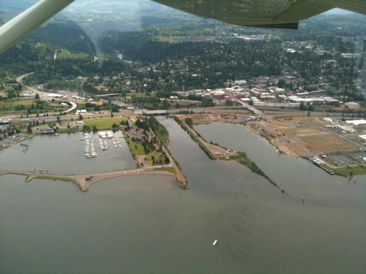 Aerial of proposed Hood River Development site