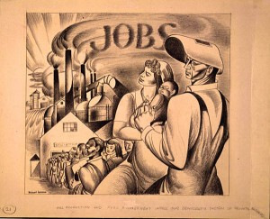 1930s image of JOBS and workers
