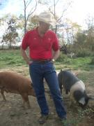Joel Salatin and Polyface Farm pigs