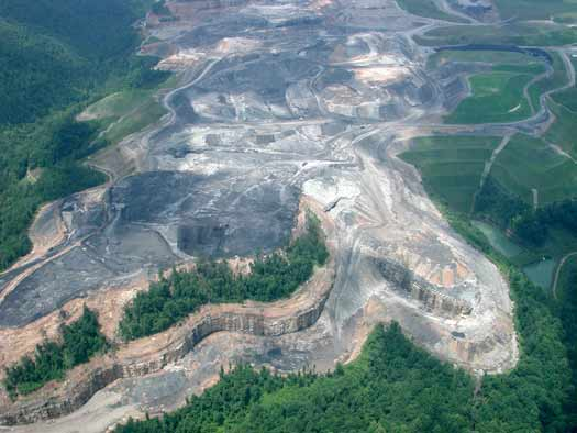 Mountaintop removal mine - West Virginia (image from OVEC)