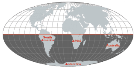 The Southern Hemisphere.