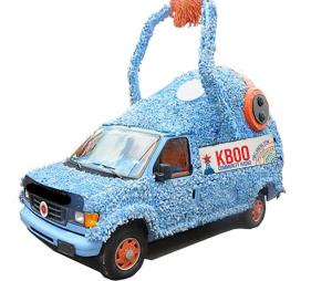 Fuzzyboo van with arm raised
