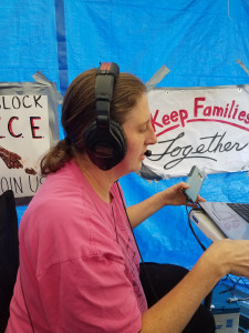 Jenka at Occupy ICE