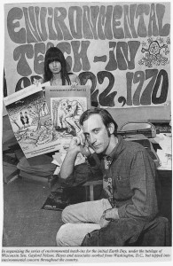 Denis Hayes organizing the first Earth Day in 1970
