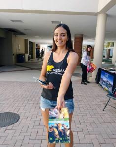 Sarah Weldon with Vegan Outreach
