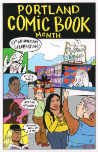 Portland Comic Book Month is celebrated on Words and Pictures with host S.W. Conser and guests Matt Bors and Liz Yerby