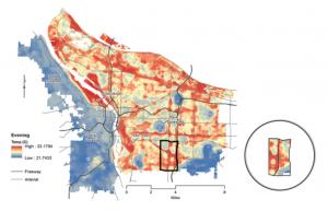 Portland Hot Spot map-Vivek Shandas