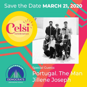 March 21st Multnomah County Democrats will host their annual Celsi Celebration.