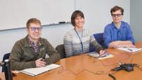 Right to Left: Nathan Teske, Cadence Petros, Cole Merkel