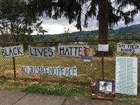 Black Lives Matter Sellwood Fence
