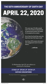 Poster for Earth Day 2020
