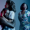 Demetrius Grosse as Stanley, Kristen Adele as Stella and Deidrie Henry as Blanche